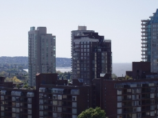Spectacular views of English Bay from this West facing developer's show suite
